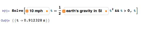 Units in Mathematica